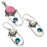 Rhodonite, Pearl, Blue Topaz Gemstone Jewelry Set RS355