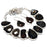 Black Window Agate Druzy Gemstone Jewelry Set RS372