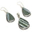 Banded Green Opal Gemstone Handmade Jewelry Set RS84