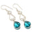 Teal Tourmaline Gemstone Ethnic Jewelry Earring 2.2 Inches RJ3088