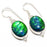 Triplet Fire Opal Gemstone Jewelry Earring 1.6 Inches RJ3132