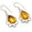 Aaa+++ Citrine Gemstone Handmade Jewelry Earring 1.6 Inches RJ3145