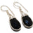 Black Onyx Gemstone Handmade Jewelry Earring 1.6 Inches RJ3153