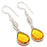 Aaa+++ Citrine Gemstone Handmade Jewelry Earring 2.0 Inches RJ3182