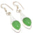 Green Chalcedony Gemstone Ethnic Jewelry Earring 2.0 Inches RJ3200