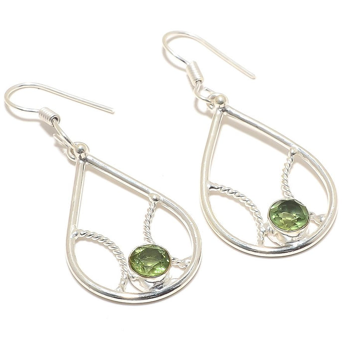 Peridot Gemstone Handmade Ethnic Jewelry Earring 2.0 Inches RJ3217
