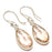 Morganite Quartz Gemstone Ethnic Jewelry Earring 1.6 Inches RJ3218