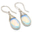 Milky Opal Gemstone Handmade Jewelry Earring 1.6 Inches RJ3256