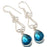 Teal Tourmaline Gemstone Ethnic Jewelry Earring 2.3 Inches RJ3272