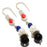 Black Onyx, Multi Gemstone Jewelry Earring 2.0 Inches RJ3285