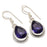 Amethyst Gemstone Handmade Jewelry Earring 1.6 Inches RJ3292