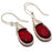 Garnet Gemstone Handmade Ethnic Jewelry Earring 1.6 Inches RJ3322