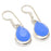 Blue Chalcedony Gemstone Ethnic Jewelry Earring 1.4 Inches RJ3331