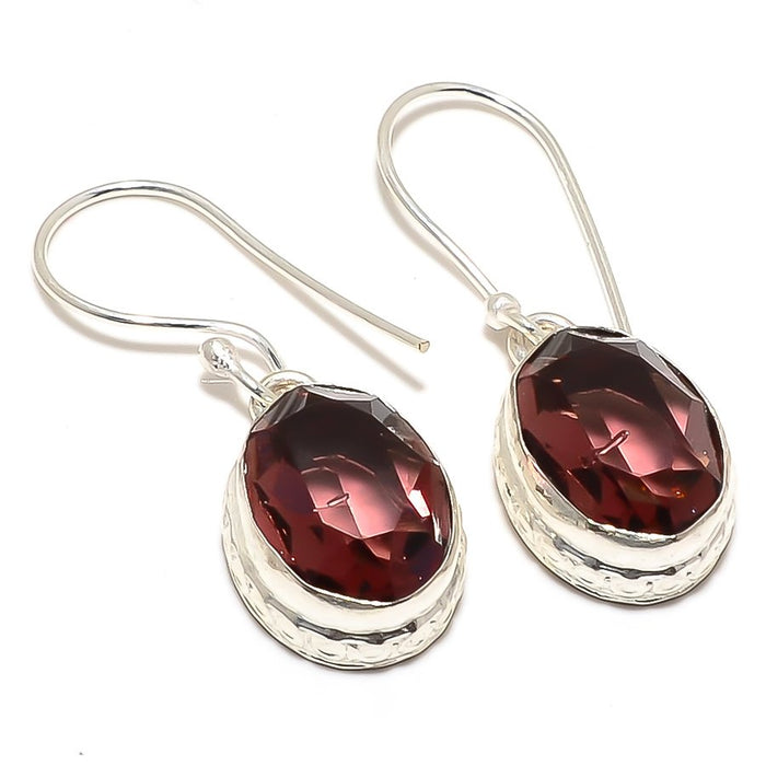 Amethyst Gemstone Handmade Jewelry Earring 1.4 Inches RJ3356
