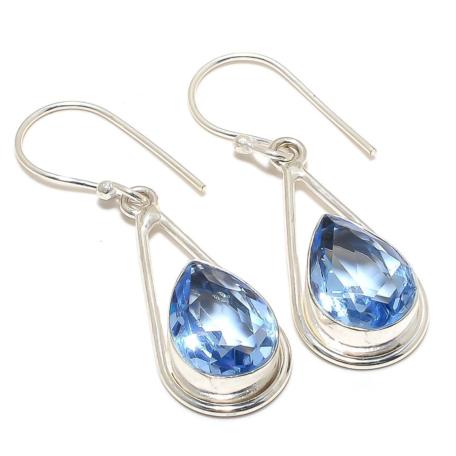 Tanzanite Quartz Gemstone Ethnic Jewelry Earring 1.7 Inches RJ3421