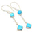 Sleeping Beauty Turquoise Ethnic Jewelry Earring 2.0 Inches RJ3423