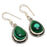Malachite Gemstone Handmade Jewelry Earring 1.4 Inches RJ3427