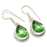 Peridot Gemstone Handmade Ethnic Jewelry Earring 1.6 Inches RJ3439