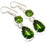 Peridot Gemstone Handmade Ethnic Jewelry Earring 1.8 Inches RJ3517