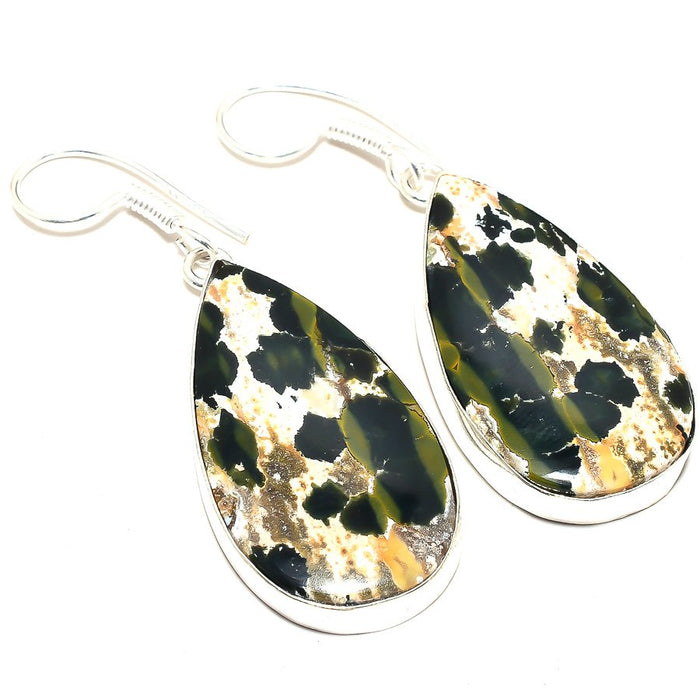 Ocean Jasper Gemstone Handmade Jewelry Earring 2.0 Inches RJ3542