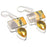 Bumble Bee Jasper, Citrine Jewelry Earring 2.0 Inches RJ3569