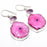 Solar Quartz Druzy, Amethyst Jewelry Earring 2.0 Inches RJ3574