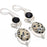 Dalmation Jasper, Black Onyx Jewelry Earring 2.2 Inches RJ3577