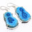 Blue Solar Quartz Druzy Gemstone Jewelry Earring 1.9 Inches RJ3578