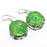 Green Solar Quartz Druzy Ethnic Jewelry Earring 1.5 Inches RJ3580