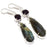 Labradorite, Amethyst Gemstone Jewelry Earring 2.5 Inches RJ3609