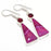Pink Lace Agate, Garnet Gemstone Jewelry Earring 2.2 Inches RJ3637