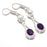 African Amethyst, River Pearl Jewelry Earring 2.0 Inches RJ3649