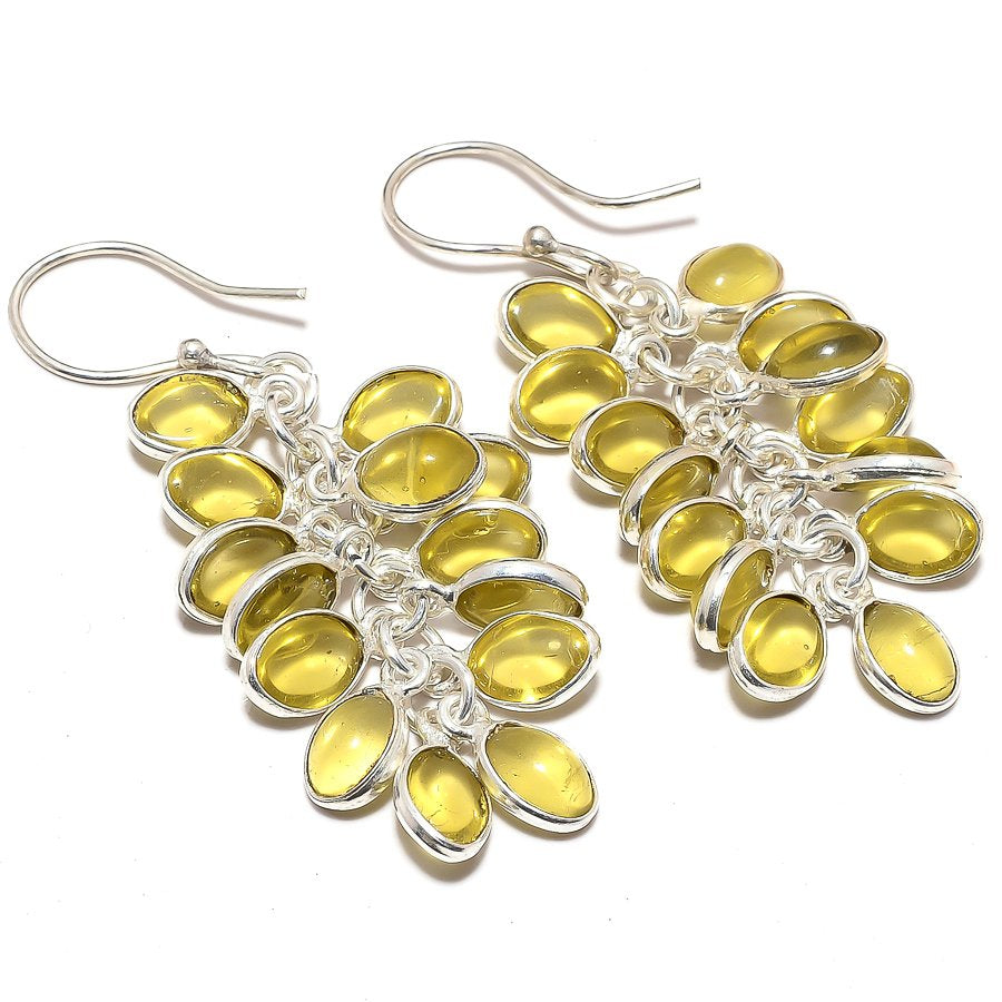 Grapes - Lemon Topaz Gemstone Jewelry Earring 2.0 Inches RJ3657