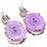 Pink Solar Quartz Druzy Gemstone Jewelry Earring 1.5 Inches RJ3690