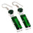 Chrome Diopside Gemstone Ethnic Jewelry Earring 2.2 Inches RJ3692