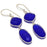 Blue Onyx Gemstone Handmade Jewelry Earring 2.4 Inches RJ3703