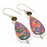 Mosaic Balloon Jasper, Smokey Jewelry Earring 2.2 Inches RJ3704