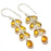 Aaa+++ Citrine Gemstone Handmade Jewelry Earring 2.2 Inches RJ3723