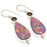 Mosaic Balloon Jasper, Smokey Jewelry Earring 2.2 Inches RJ3729