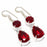 Garnet Gemstone Handmade Ethnic Jewelry Earring 1.8 Inches RJ3740