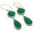 Green Onyx Gemstone Ethnic Jewelry Earring 2.2 Inches RJ3741