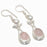 Rose Quartz, River Pearl Ethnic Jewelry Earring 2.1 Inches RJ3764