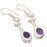 African Amethyst, River Pearl Jewelry Earring 2.0 Inches RJ3775