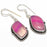 Pink Lace Agate Gemstone Ethnic Jewelry Earring 1.8 Inches RJ3807