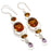 Honey Topaz, Kunzite Quartz Jewelry Earring 2.8 Inches RJ3892