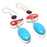 Sleeping Beauty Turquoise Jewelry Earring 2.8 Inches RJ3893