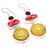 Yellow Solar Quartz Druzy Jewelry Earring 2.7 Inches RJ3896