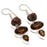 Smokey Topaz, Quartz Druzy Jewelry Earring 1.4 Inches RJ3938