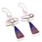 Purple Lace Agate, Biwa Pearl Jewelry Earring 2.8 Inches RJ3965
