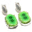 Green Solar Quartz Druzy Ethnic Jewelry Earring 1.7 Inches RJ3996